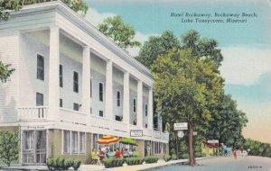 Hotel Rockaway Rockaway Beach Missouri Postcard
