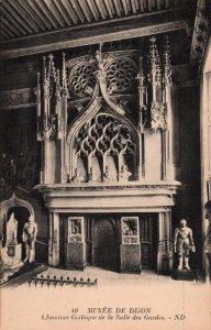 Cheminee Gothique de la Salle des Gardes,Musee de Dijon,France BIN