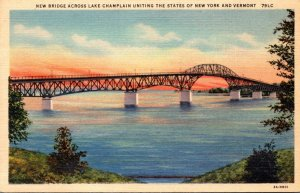 New York New Bridge Across Lake Champlain 1934 Curteich