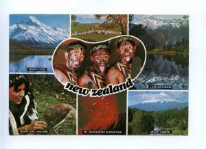 199505 New Zealand kiwi aborigines old postcard
