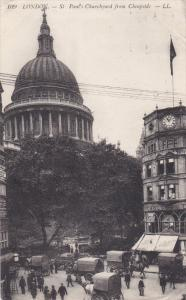 St. Paul's Churchyard From Cheapside, LONDON, England, UK, 1900-1910s