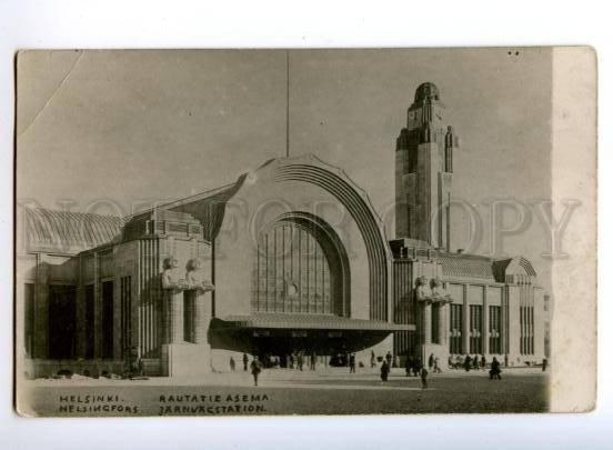173668 FINLAND HELSINKI Railway station Vintage photo postcard