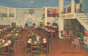 Lorenzo's Restaurant - Dining Room, Rochester, New York - Linen