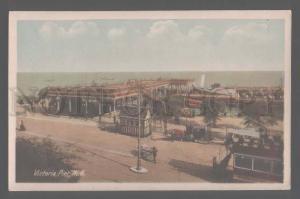 105313 UK Victoria Pier Hull  tram Vintage photo PC