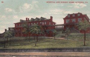 ALTOONA, Pennsylvania, 1900-1910's; Hospital And Nurses' Home