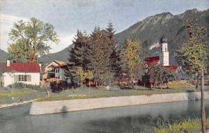 Germany, Oberammergau, Partie an der Ammer AK