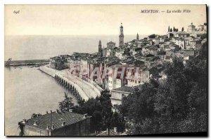 Old Postcard Menton Old Town