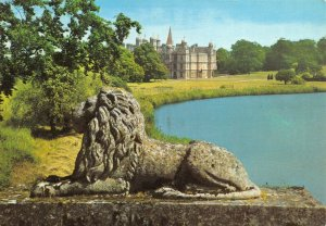 Postcard, View from The Lion Bridge, Burghley House, Stamford, Lincolnshire 86Y