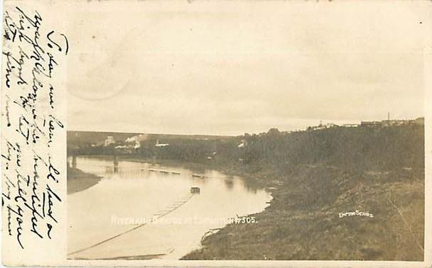 RPPC of River and Bridge Edmonton Alberta Canada 1906