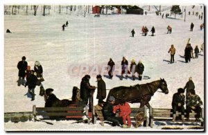 Postcard Modern Canada Parc Mont Royal Montreal Winter sports