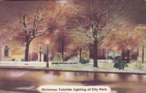 Kentucky Russelville Christmas Yuletide Lighting Of City Park