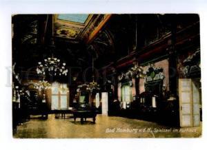 174129 GERMANY BAD HOMBURG billiards Vintage postcard