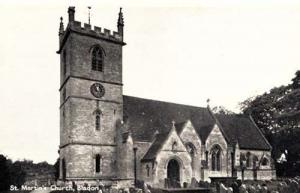 Bladon St Marys Church Old Vintage Oxfordshire Real Photo Postcard MINT