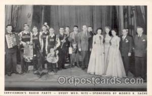 Servicemen's Radio Party- Sponsored By Morris B. Sachs. Postcard postcards  S...