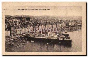 Old Postcard Marseille A corner of the old port