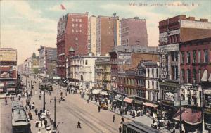Trolleys On Main Street Looking North Buffalo New York 1909