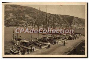 Old Postcard Menton port Entree