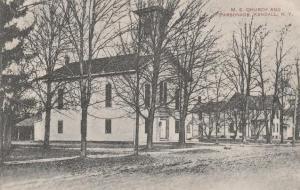 Methodist Church and Parsonage - Kendall NY, New York - pm 1910 - DB