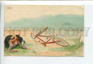 3176661 ART NOUVEAU Lady Bicycle by Raphael KIRCHNER vintage PC