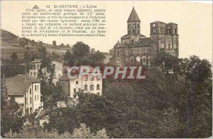 Postcard Old St Nectaire Church