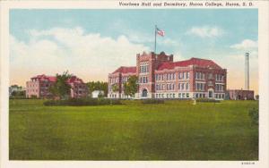South Dakota Huron Voorhees Hall & Dormitory Huron College Curteich