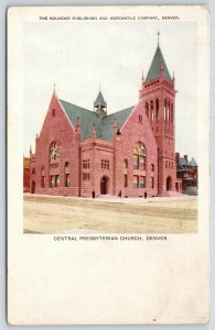 Denver Colorado~Central Presbyterian Church~Stained Glass~Mercantile Pub~c1905