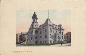Street view showing City Hall,  Newport, Rhode Island, PU-1911