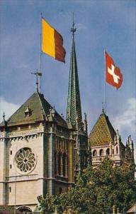 Switzerland Geneve Les Tours de la Cathedrale de Saint-Pierre