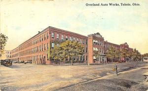 Toledo OH Overland Auto Works in 1914 Postcard