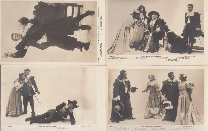 His Majestys Servant Evelyn Millard Lewis Waller 4x Play Antique Postcard s