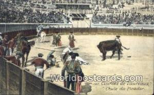 Spain Postcard España Tarjeta Postal Courses de Taureaux, Chute du Picador C...