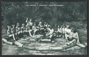 Newfield or Sparta NJ Camp Sacajawea 1940s-1950s Artvue Postcard