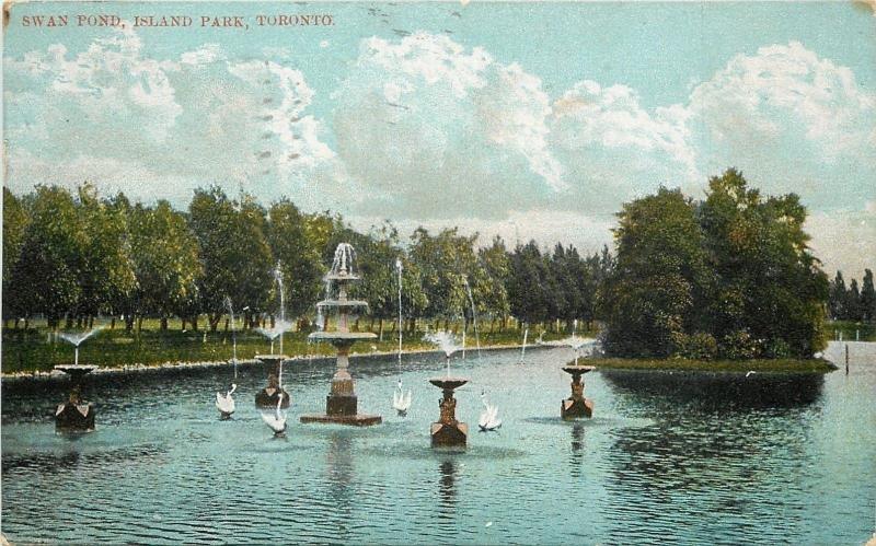 Toronto Ontario~Island Park~Swan Pond~1907