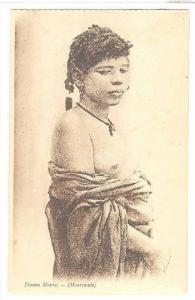 Mauritania , 1910s ; Femme Maure (topless girl)