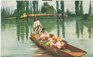 Mexico, Vendedora de Flores, Xochimilco unused Postcard