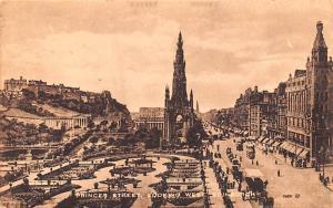 Looking West, Edinburgh Scotland Postcard Princes Street Looking West, Edinburgh