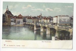 Switzerland Basel Alte Rheinbrucke Old Bridge Rhein River ca