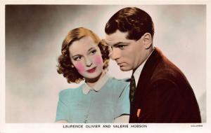 Laurence Olivier and Valerie Hobson Columbia Postcard