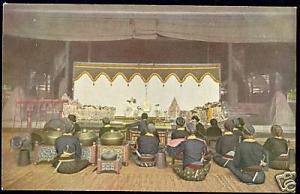 indonesia, JAVA, Wayang Kulit Gamelan Orchestra (1910s)