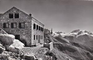 Switzerland Zermatt Zinalrothornhuette Rimpfischhorn und Strahlhorn 1967 Photo