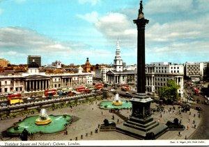 England London Trafalgar Square and Nelson's Column 1971