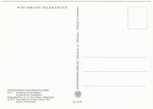 Irinaland Over the Balkans by Friedensreich Hundertwasser 1977 Art Postcard