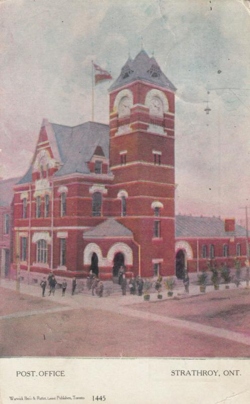STRATHROY , Ontario , Canada , 1906 ; Post Office