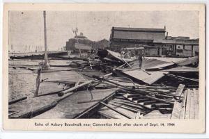 Ruins of Ashbury Broadwalk after storm on 1944