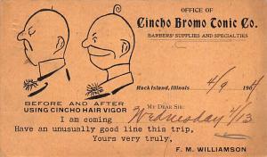 Medicine Advertising Old Vintage Antique Post Card Cincho Bromo Tonic Co 1904