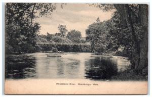 1913 Housatonic River, Stockbridge, MA Postcard