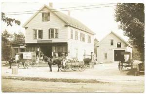 No. Middleboro MA Post Office Milk Bread Wagon RPPC Real Photo Postcard