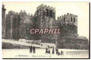 Old Postcard Marseille Abbaye De Saint Victor