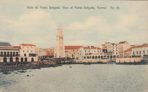 PONTA DELGADA, Azores, Portugal, 00-10s; Boats, Vista De Ponta Delgada