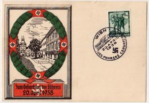 Zum Geburtatag des fuhrers 20. April 1938 - Swastika